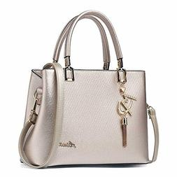 Womens Leather Purses and Handbags Shoulder Bags Top Handle