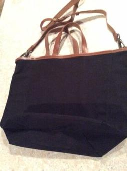 womens purses and handbags/Urban Outfitters Black Canvas & L