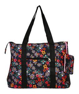 Jenzys Womens Retro Floral Large Shoulder Tote Bag for Trave