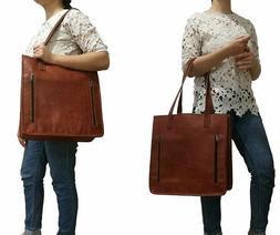Womens Shoulder Tote Bag Genuine Leather Travel Handbag Top