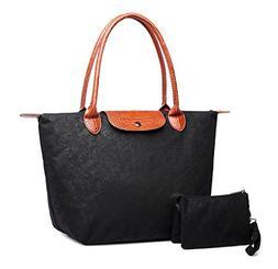 womens stylish waterproof nylon tote handbag travel