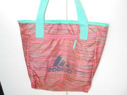 ADIDAS WOMENS TOTE BAG BOOK BAG Teal and Beach NEW!!!!!