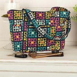 VHC Women's Tote Bag Bohemian Shoulder Handbag Quilted Purse