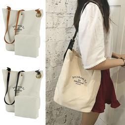 Womens Tote Shoulder Bag Purse Large Canvas Handbag Travel M