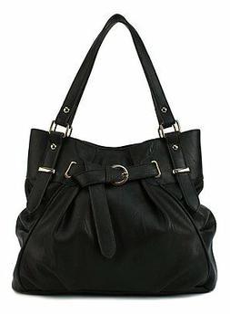 Scarleton Womens Vintage Tote Bag H124501 - Black