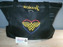 Wonder Woman Heart Sketch Personalized Tote Bag Superhero To