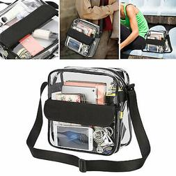 Women Clear Tote Bag Bags Crystal PVC Handbag Shoulder Trans
