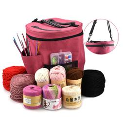 Yarn Storage Bag Large Capacity Knitting Crochet Tool Tote O