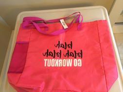 Yoga Gym Tote Bag PINK LARGE NEW FREE SHIP 1*