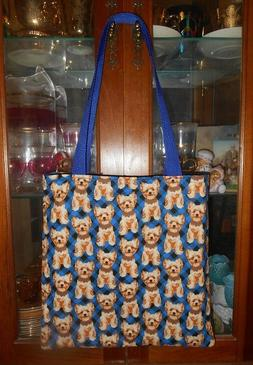 Yorkshire Terrier Tote Bag Dog Yorkie Gift Book or Lunch Bag
