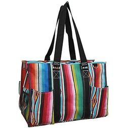 Zarape Print NGIL Large Zippered Caddy Organizer Tote Bag