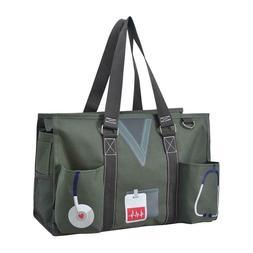 Zip Top Utility Tote Organizer w/pockets purse bag craft FRE