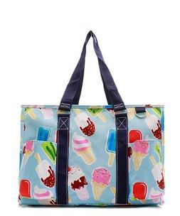 Zip Top Utility Tote Organizer w/pockets purse bag NWT NGIL