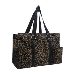 Zip Top Utility Tote Organizer w/pockets purse bag craft NWT