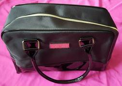 """Jafra Zipper Tote Bag Black Approximate Measurements 13"""" X 9"""