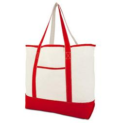 """22"""" Extra Large Zippered Shopping Tote Grocery Bag with Oute"""