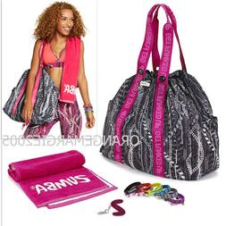 Zumba Tote Bag Duffel GIFT SET +Towell+KeyRing+Bacelets for